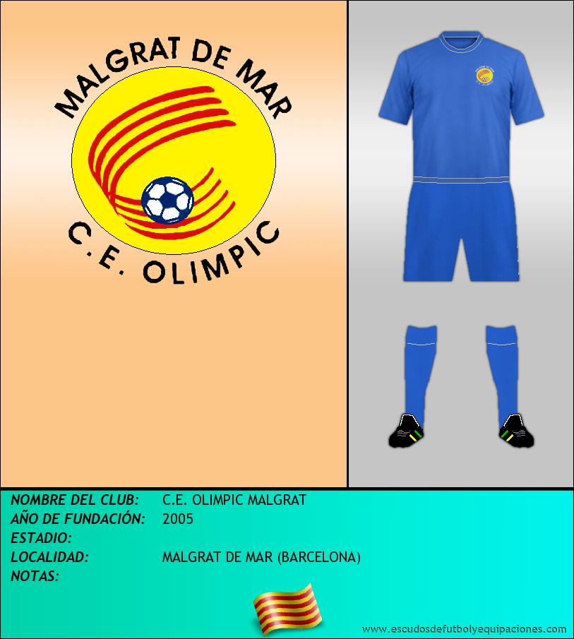 Escudo de C.E. OLIMPIC MALGRAT