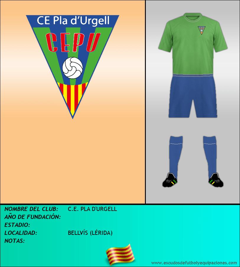 Escudo de C.E. PLA D'URGELL
