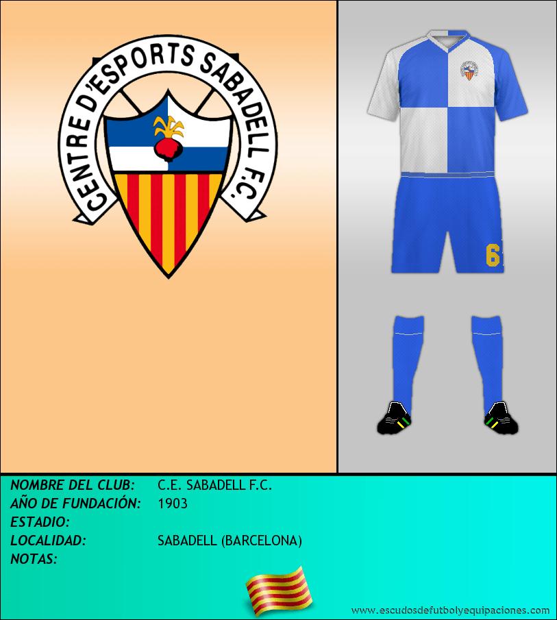 Escudo de C.E. SABADELL F.C.