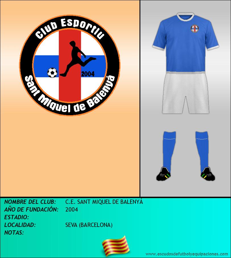 Escudo de C.E. SANT MIQUEL DE BALENYÁ