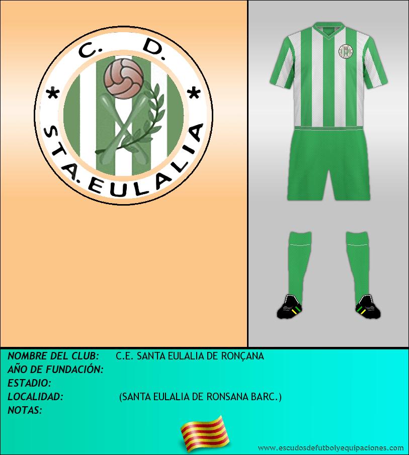 Escudo de C.E. SANTA EULALIA DE RONÇANA