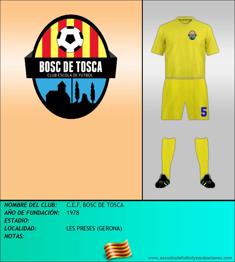 Escudo de C.E.F. BOSC DE TOSCA