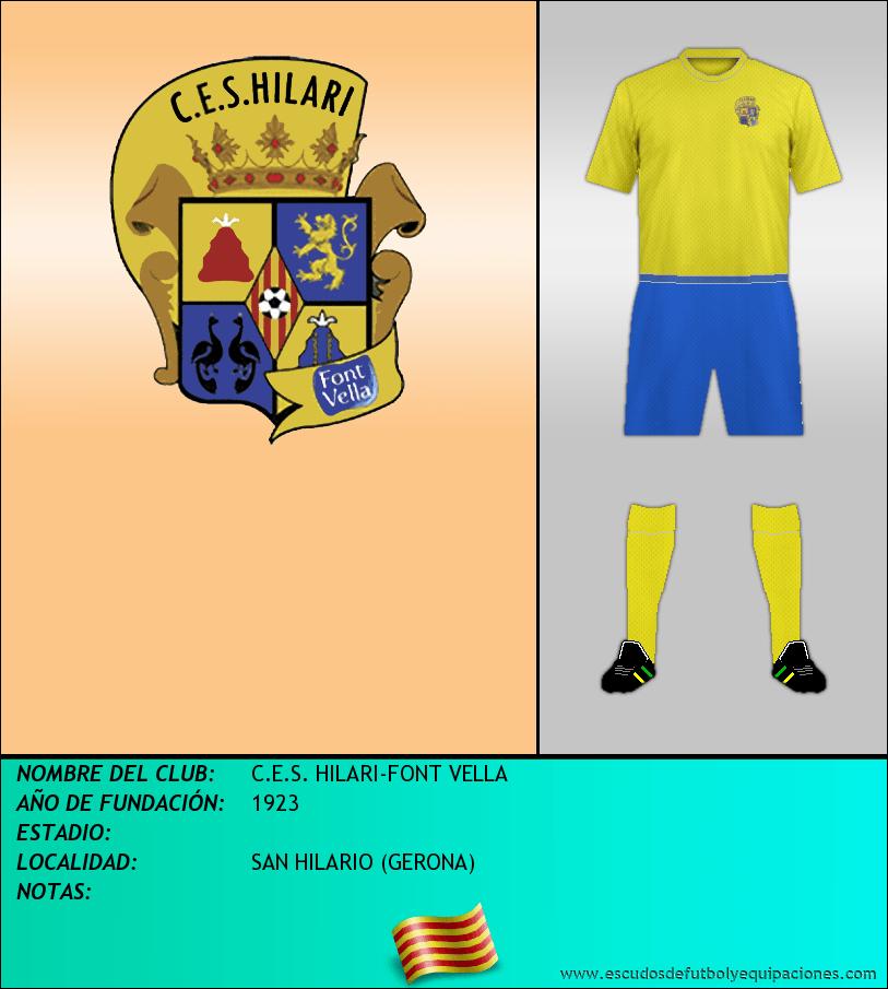 Escudo de C.E.S. HILARI-FONT VELLA