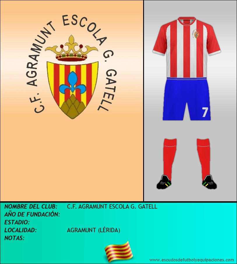 Escudo de C.F. AGRAMUNT ESCOLA G. GATELL