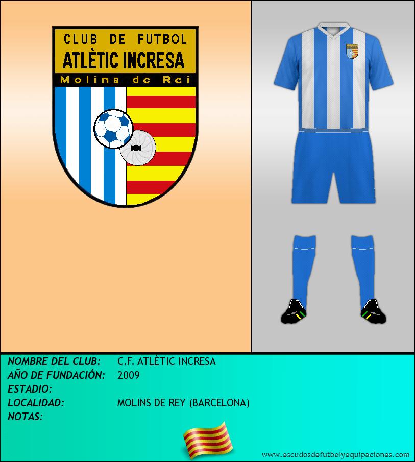 Escudo de C.F. ATLÈTIC INCRESA