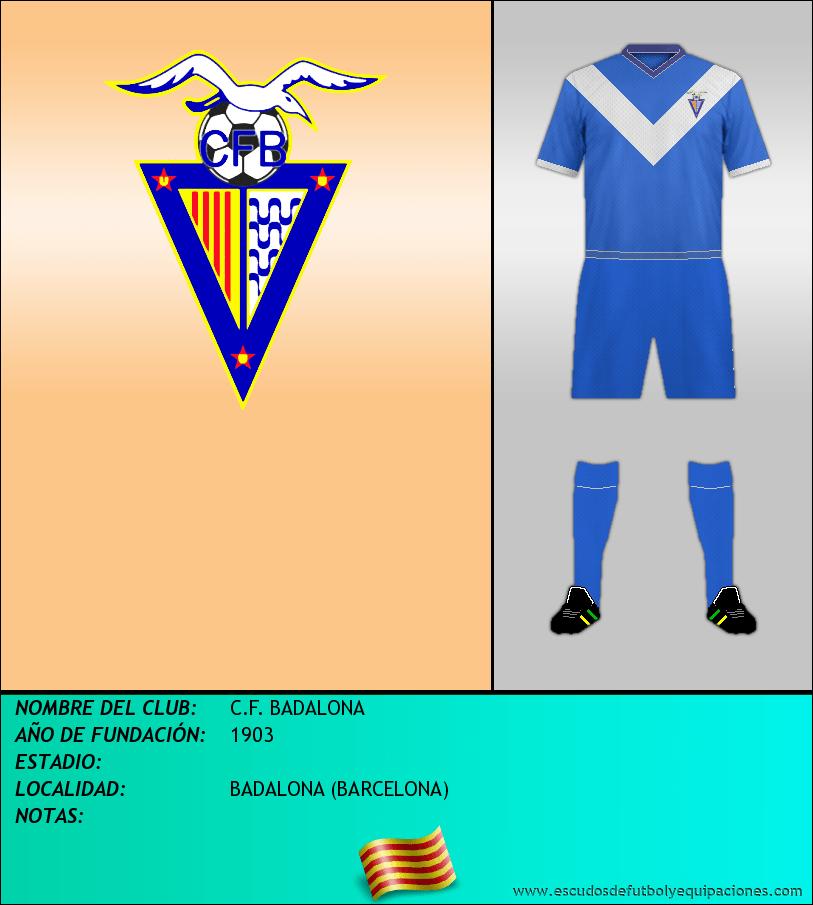 Escudo de C.F. BADALONA