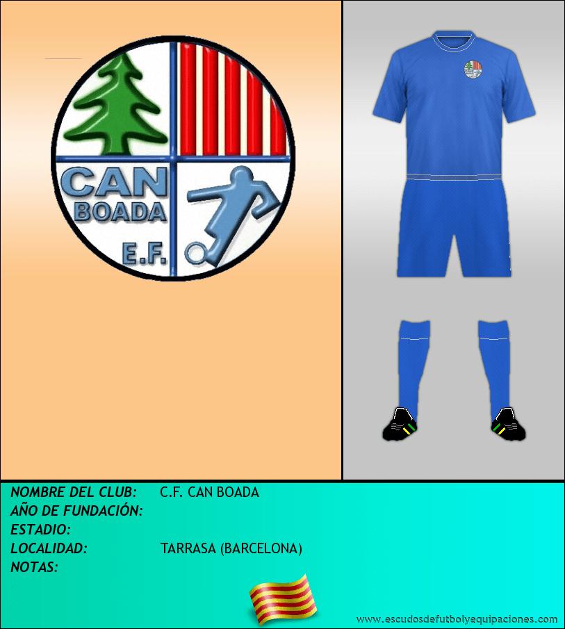 Escudo de C.F. CAN BOADA