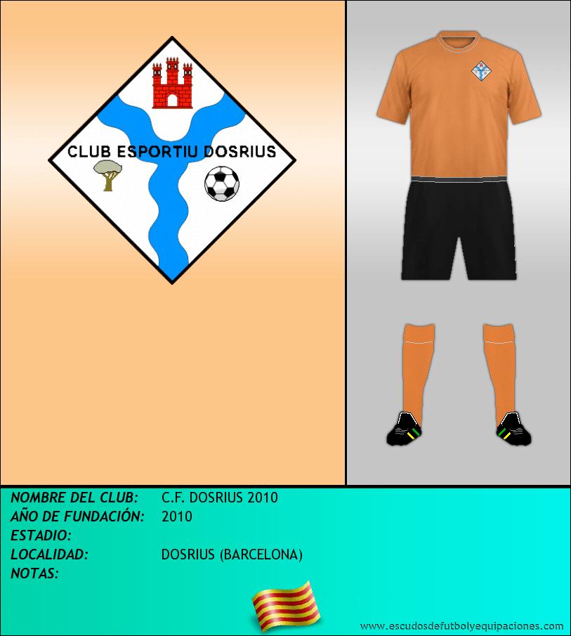 Escudo de C.F. DOSRIUS 2010