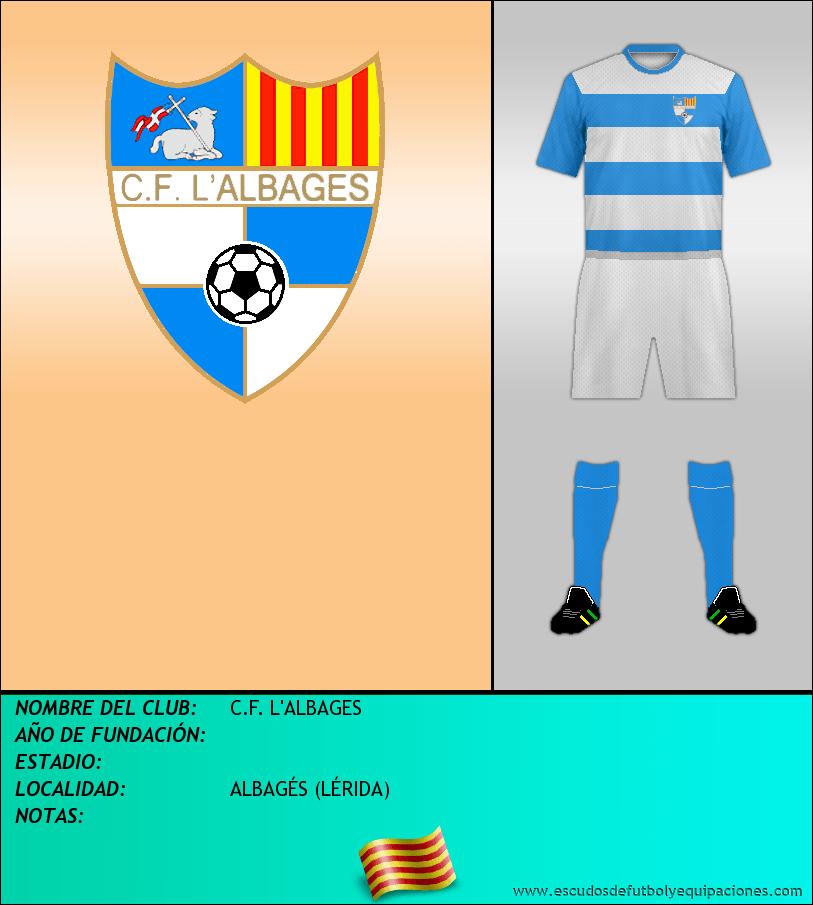 Escudo de C.F. L'ALBAGES