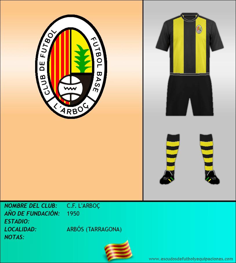 Escudo de C.F. L'ARBOÇ