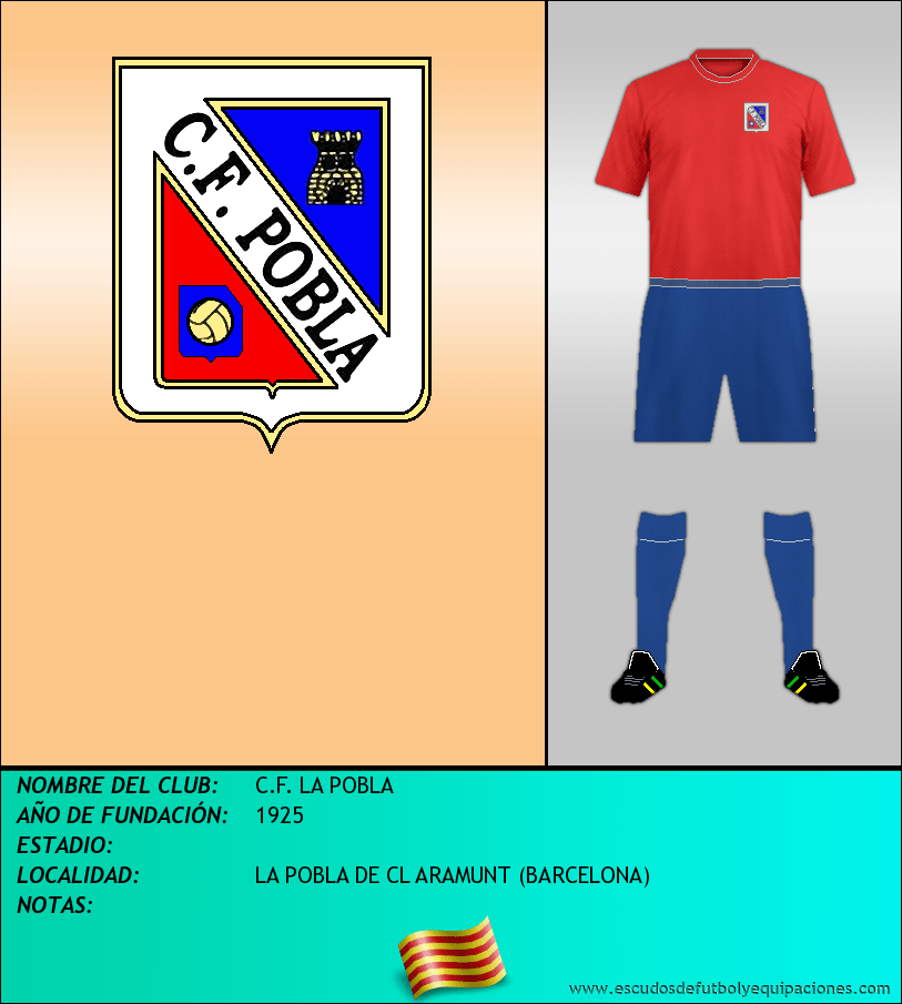 Escudo de C.F. LA POBLA