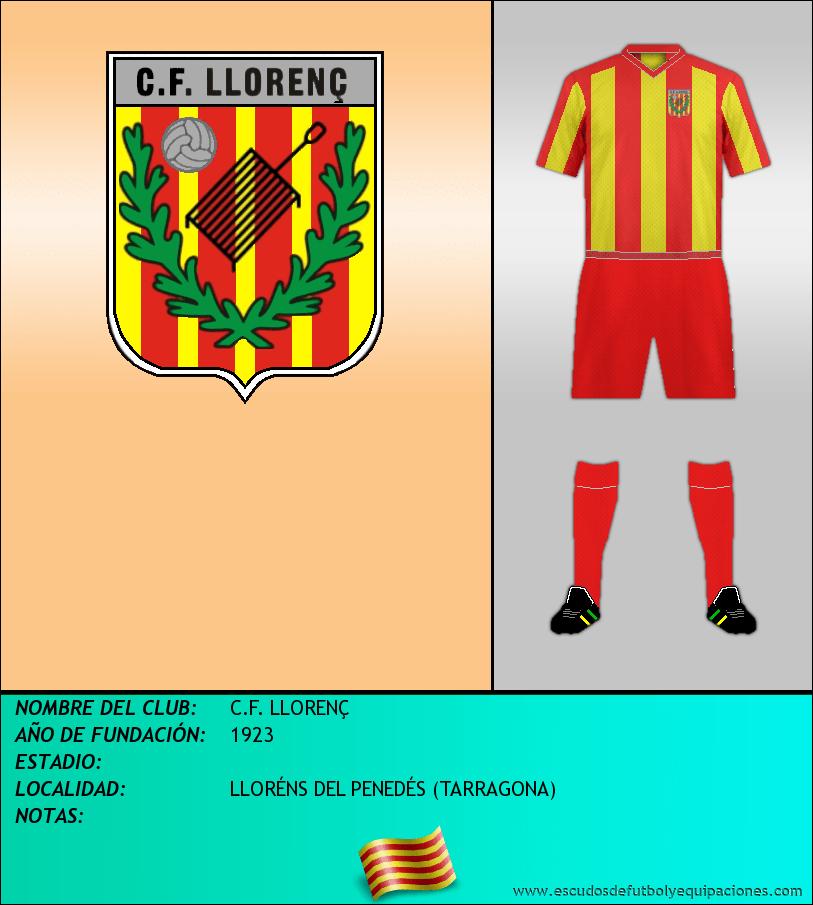 Escudo de C.F. LLORENÇ