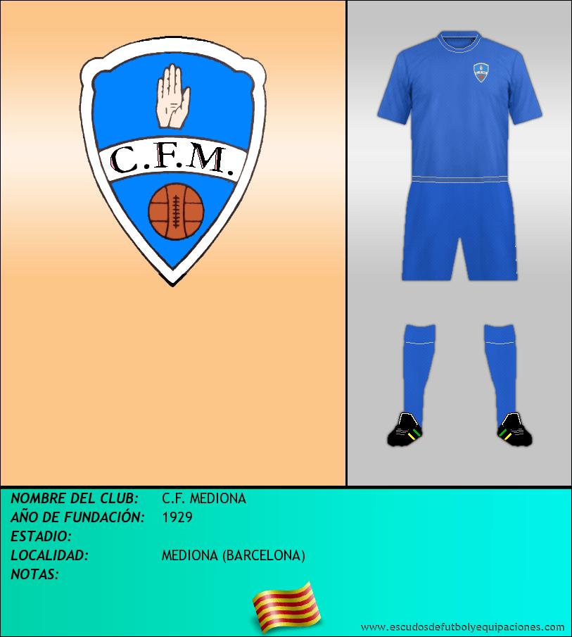 Escudo de C.F. MEDIONA