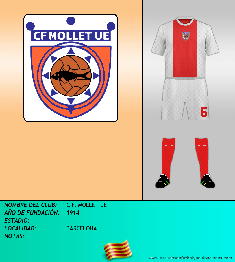 Escudo de C.F. MOLLET UE