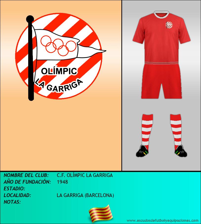 Escudo de C.F. OLÍMPIC LA GARRIGA