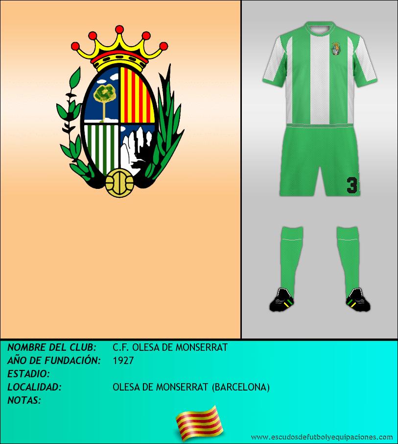 Escudo de C.F. OLESA DE MONSERRAT