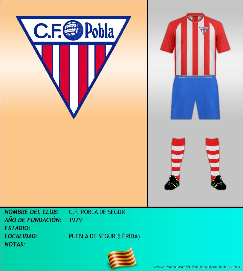 Escudo de C.F. POBLA DE SEGUR