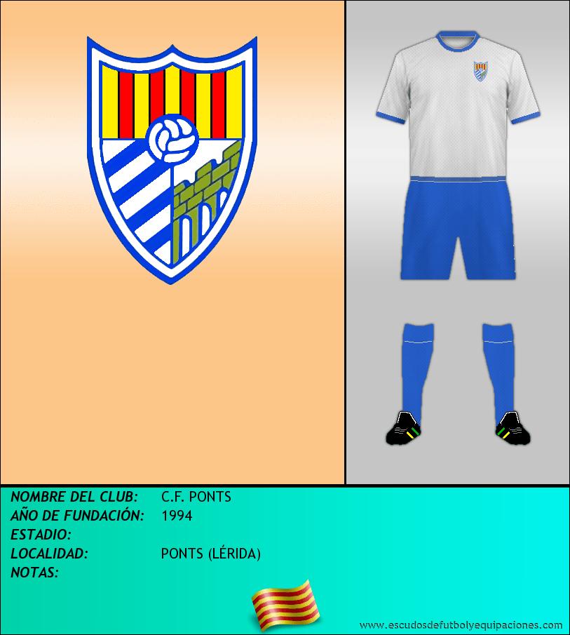 Escudo de C.F. PONTS