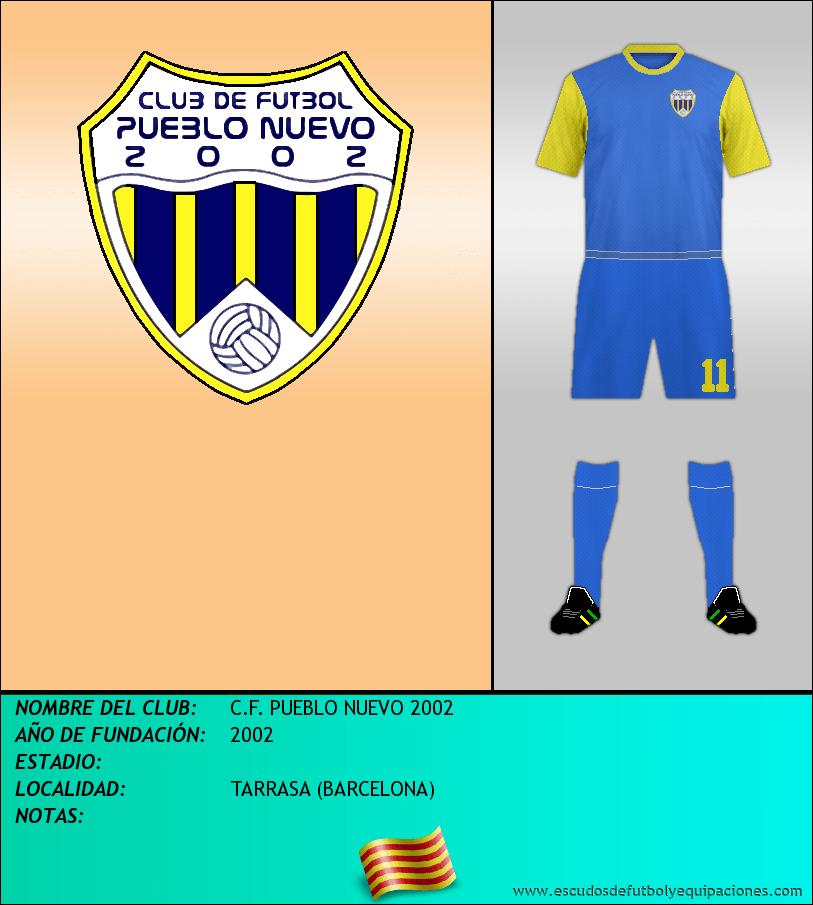 Escudo de C.F. PUEBLO NUEVO 2002