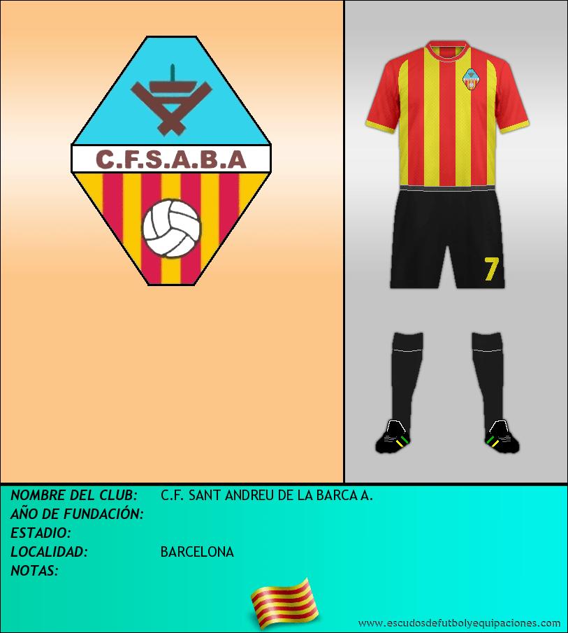 Escudo de C.F. SANT ANDREU DE LA BARCA A.
