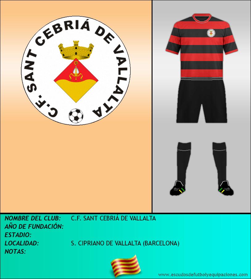 Escudo de C.F. SANT CEBRIÁ DE VALLALTA