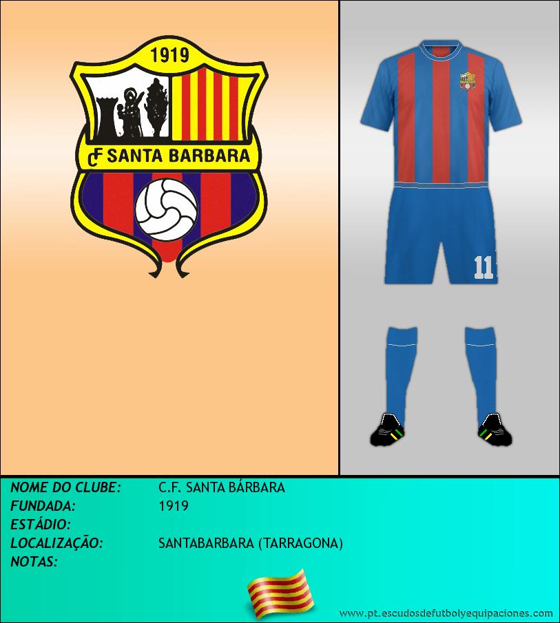 Escudo de C.F. SANTA BÁRBARA