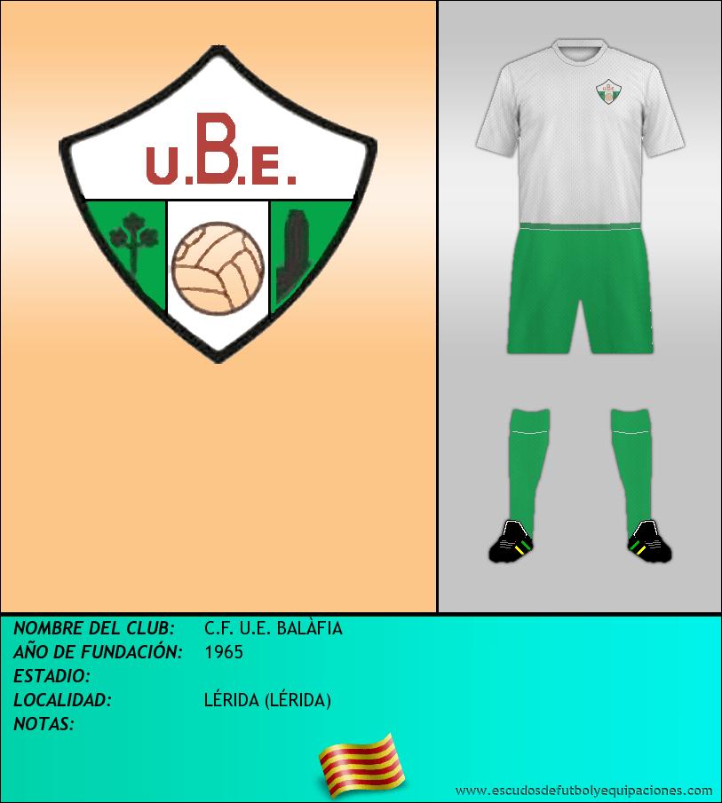 Escudo de C.F. U.E. BALÀFIA