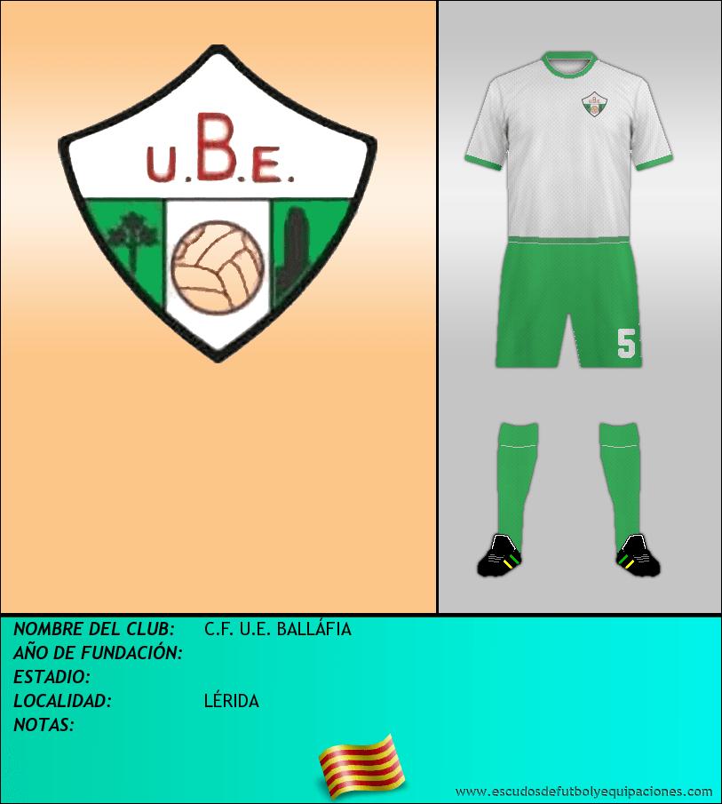 Escudo de C.F. U.E. BALLÁFIA