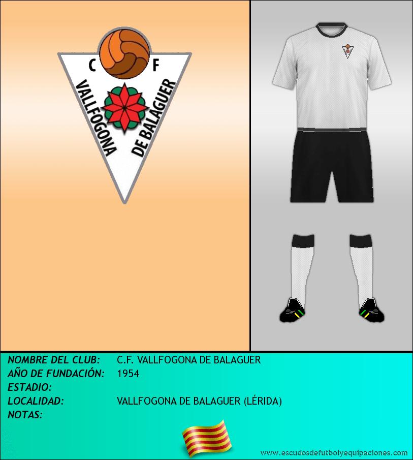 Escudo de C.F. VALLFOGONA DE BALAGUER