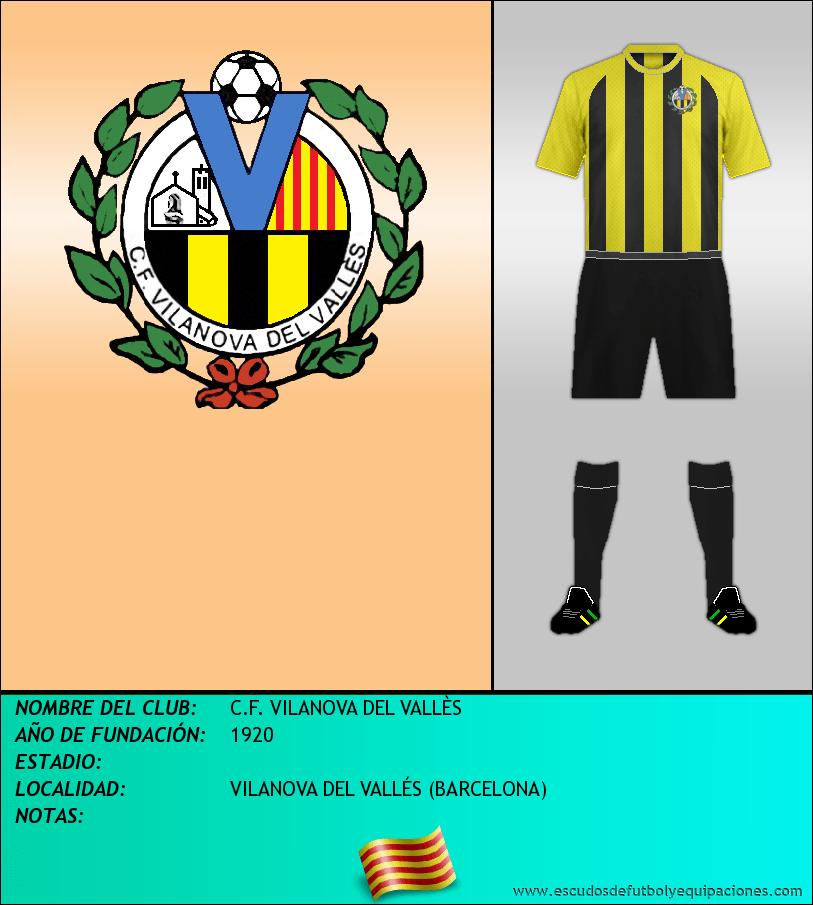 Escudo de C.F. VILANOVA DEL VALLÈS