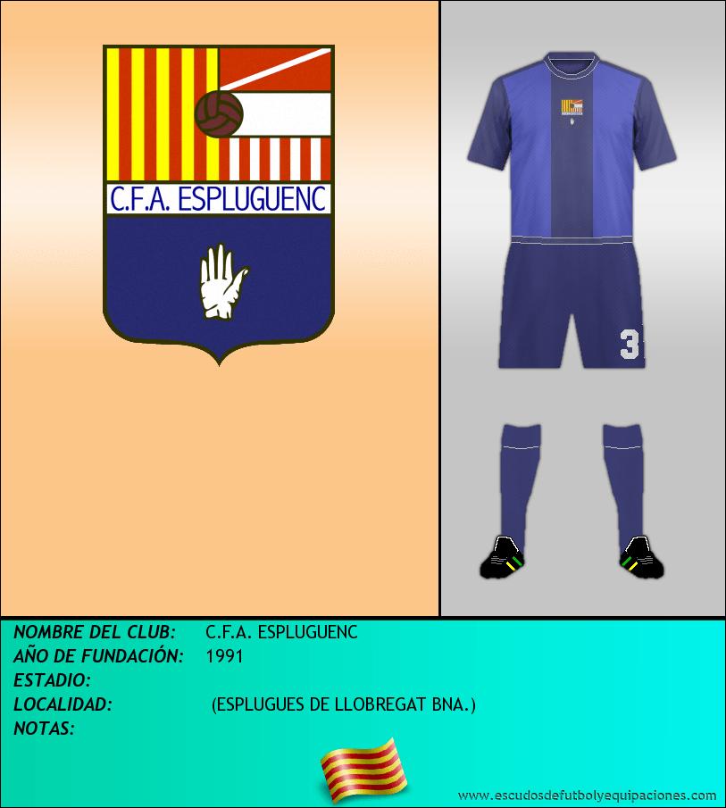 Escudo de C.F.A. ESPLUGUENC
