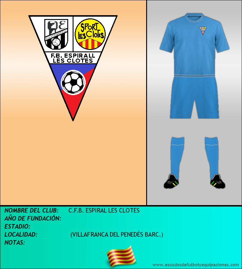 Escudo de C.F.B. ESPIRAL LES CLOTES
