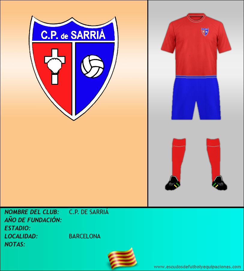 Escudo de C.P. DE SARRIÁ