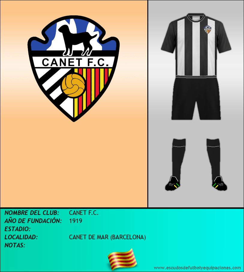 Escudo de CANET F.C.