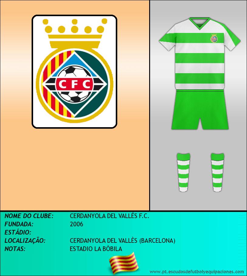 Escudo de CERDANYOLA DEL VALLÉS F.C.