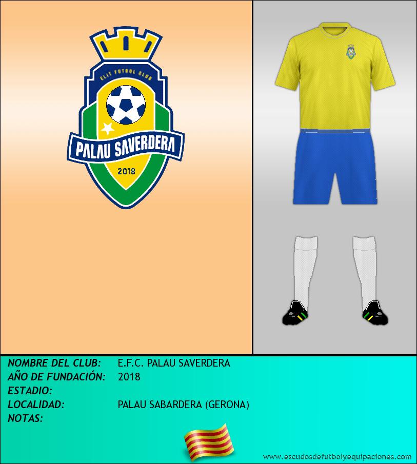 Escudo de E.F.C. PALAU SAVERDERA