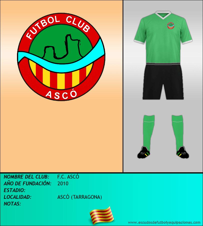 Escudo de F.C. ASCÓ