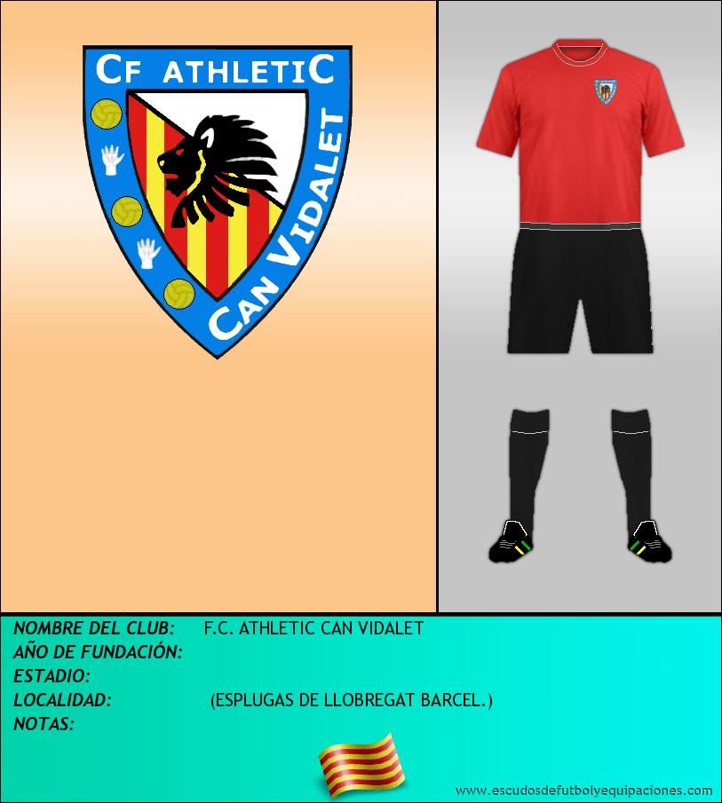 Escudo de F.C. ATHLETIC CAN VIDALET