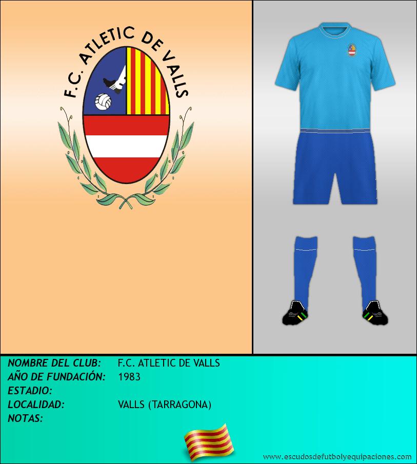 Escudo de F.C. ATLETIC DE VALLS