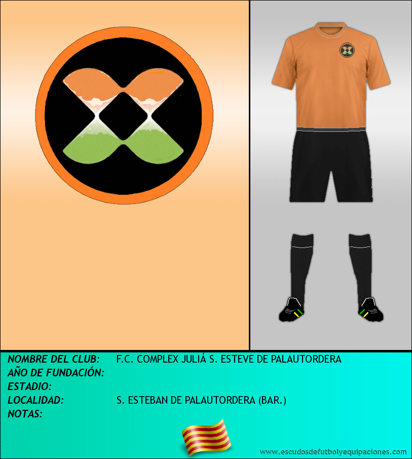 Escudo de F.C. COMPLEX JULIÁ S. ESTEVE DE PALAUTORDERA