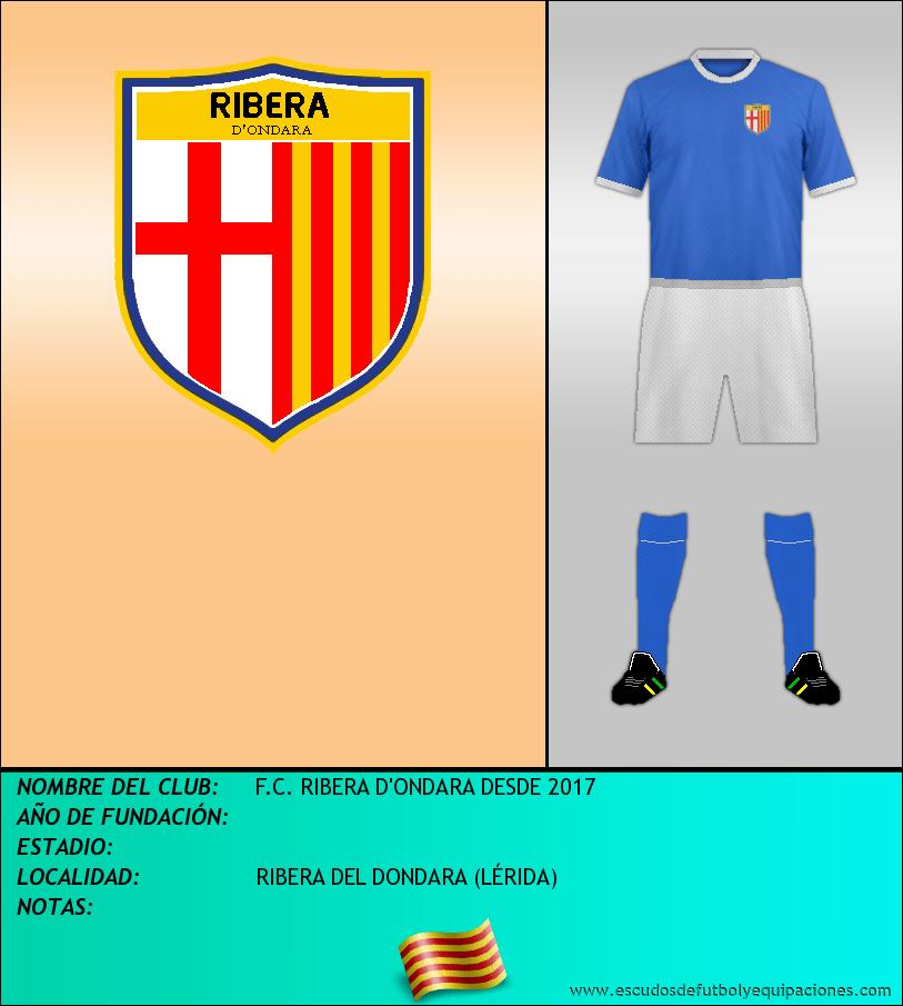 Escudo de F.C. RIBERA D'ONDARA DESDE 2017