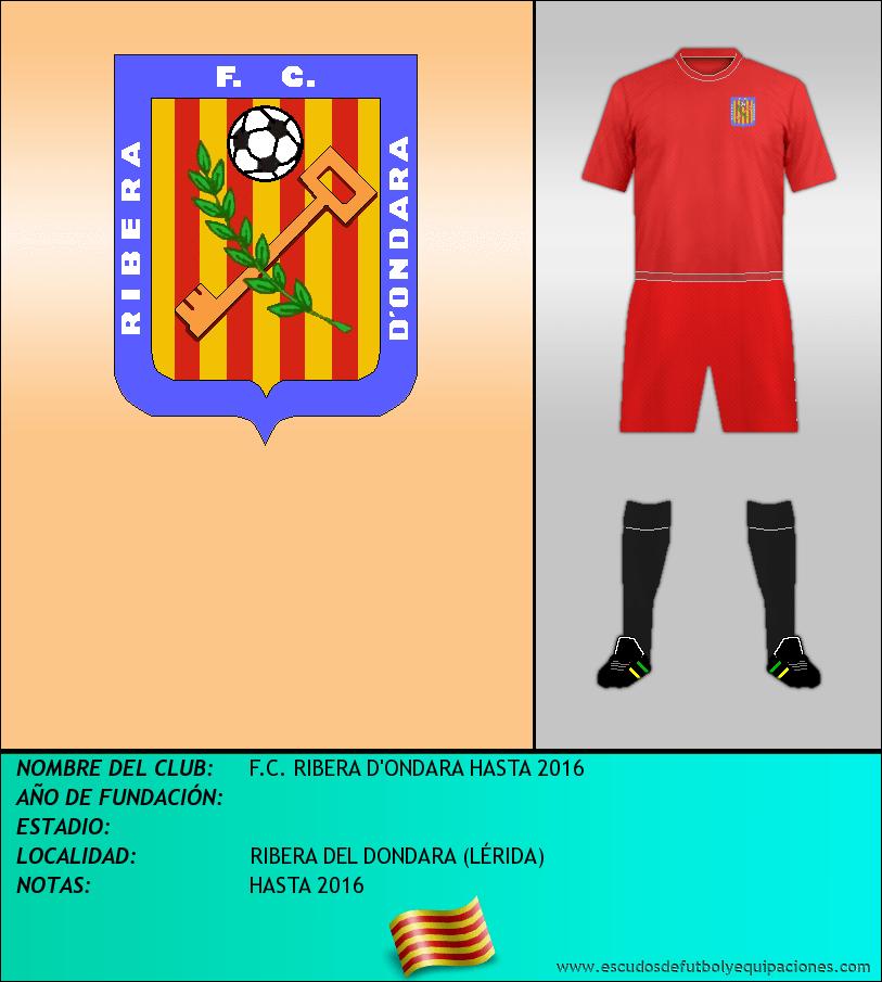 Escudo de F.C. RIBERA D'ONDARA HASTA 2016