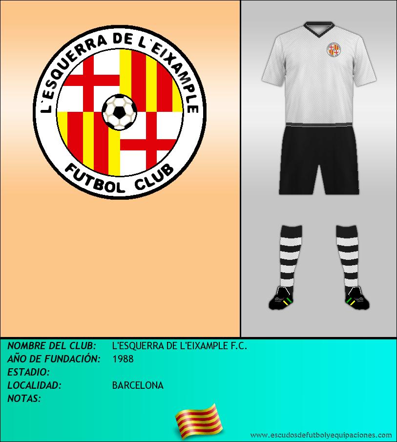 Escudo de L'ESQUERRA DE L'EIXAMPLE F.C.