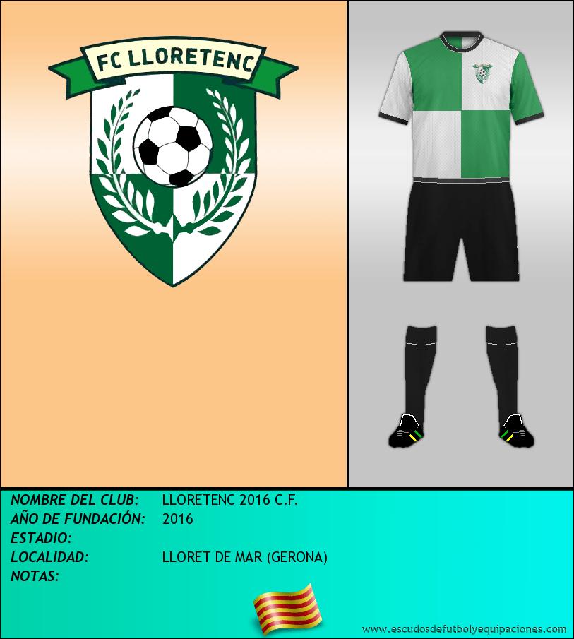 Escudo de LLORETENC 2016 C.F.