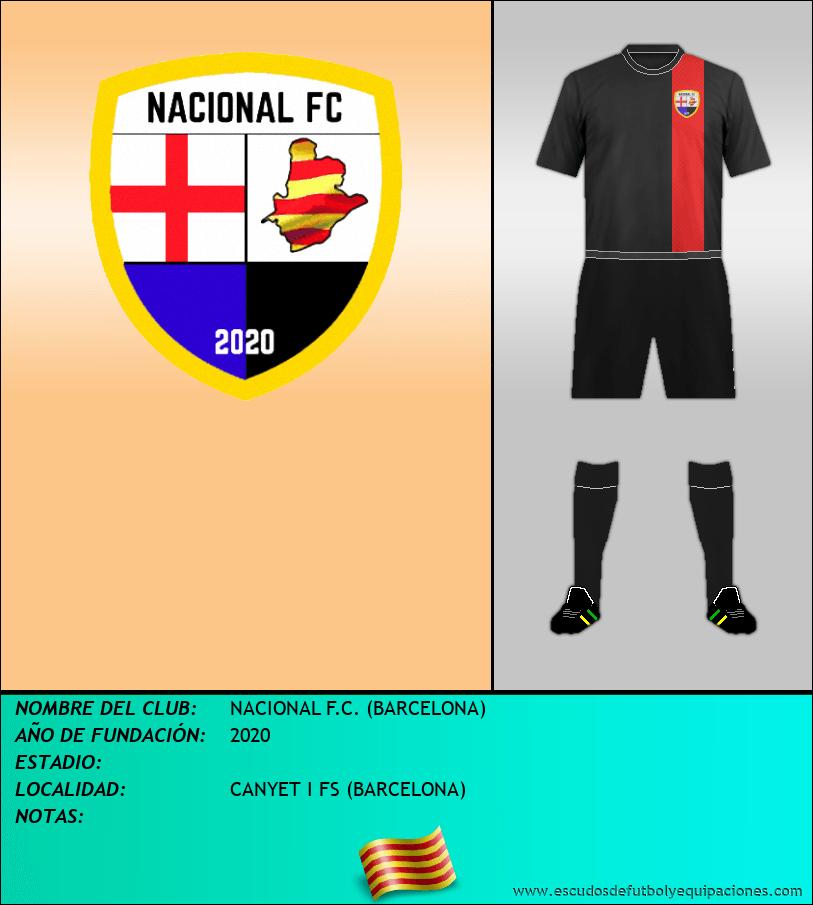 Escudo de NACIONAL F.C. (BARCELONA)
