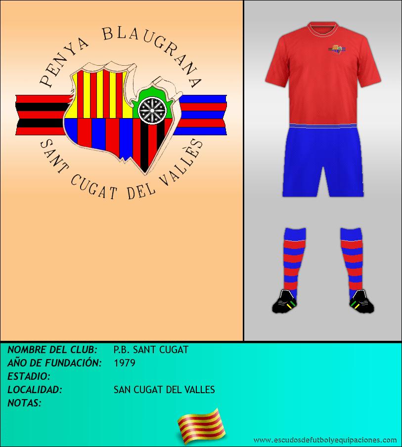 Escudo de P.B. SANT CUGAT