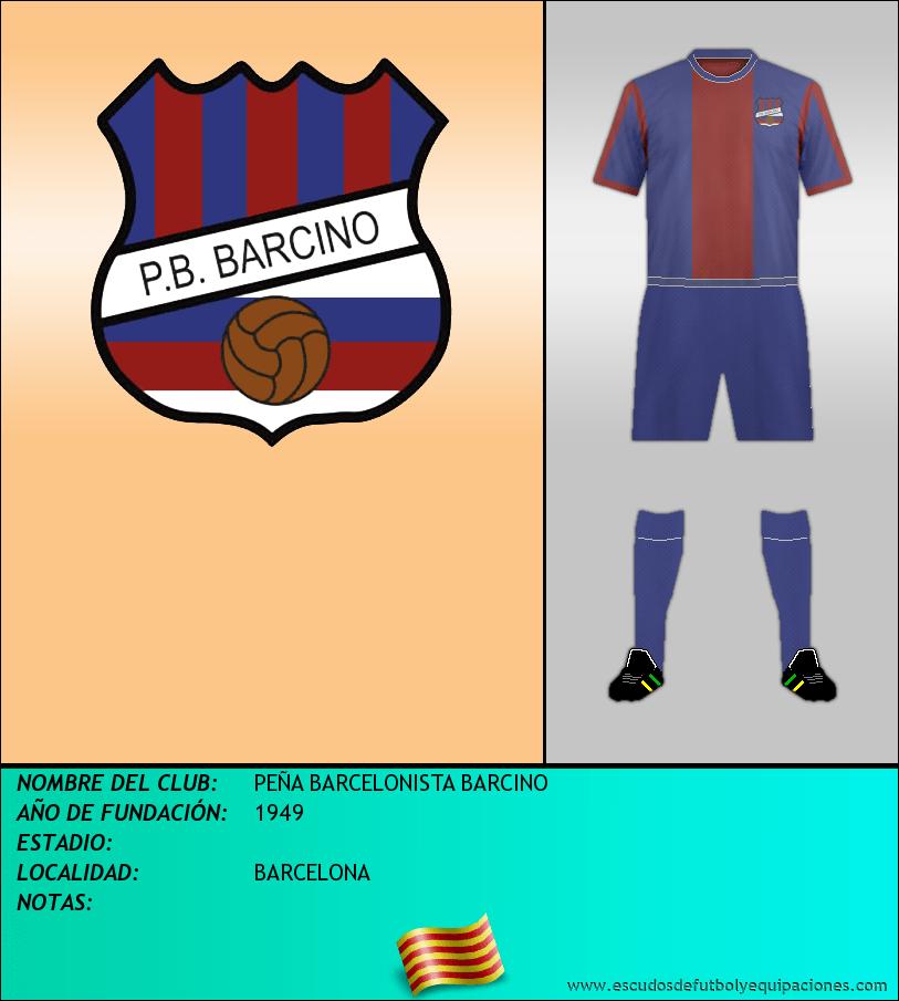 Escudo de PEÑA BARCELONISTA BARCINO