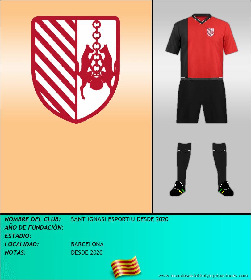 Escudo de SANT IGNASI ESPORTIU DESDE 2020