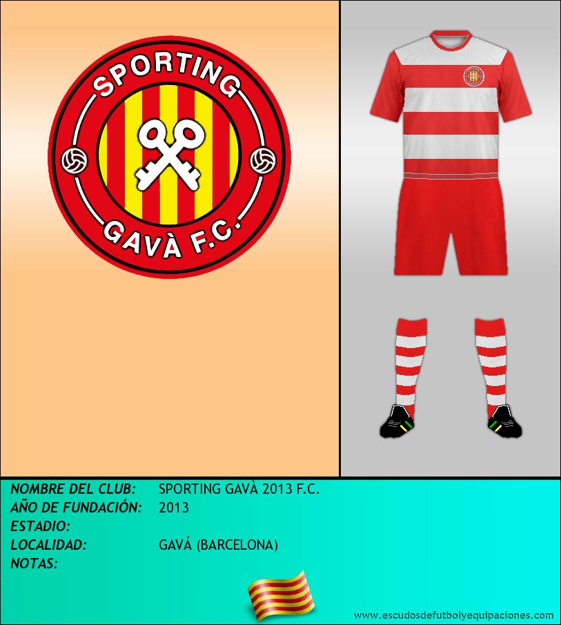 Escudo de SPORTING GAVÀ 2013 F.C.