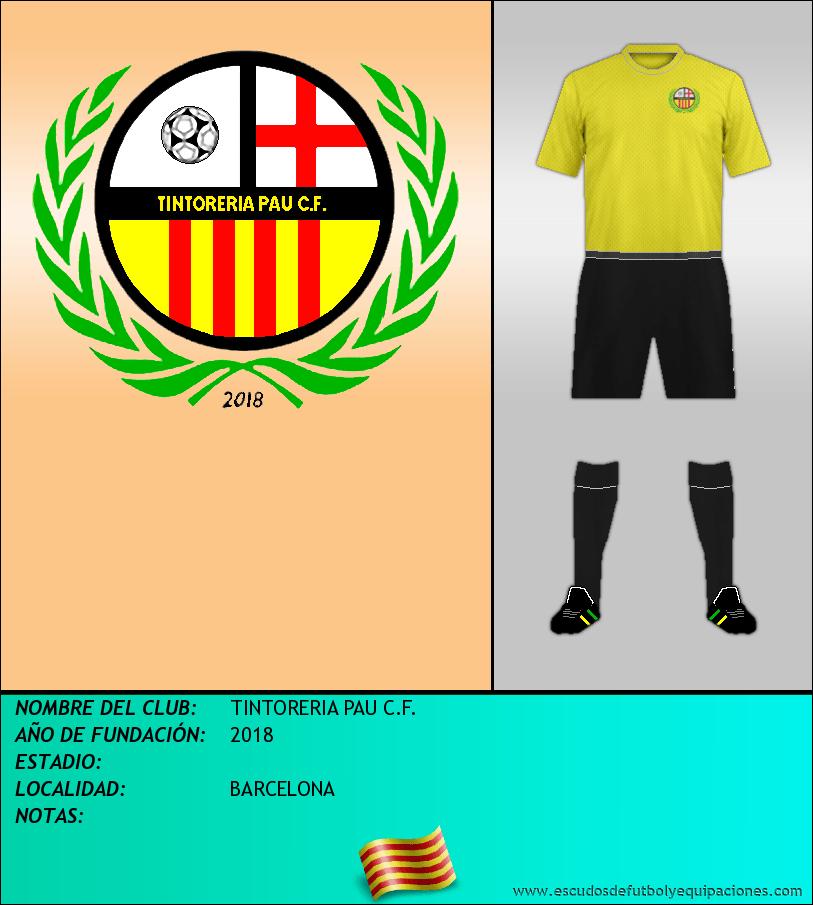 Escudo de TINTORERIA PAU C.F.